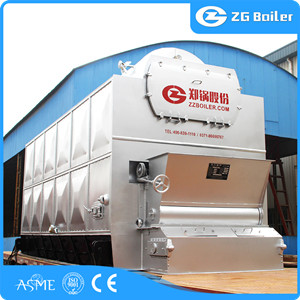 Wood biomass fired hot water boiler