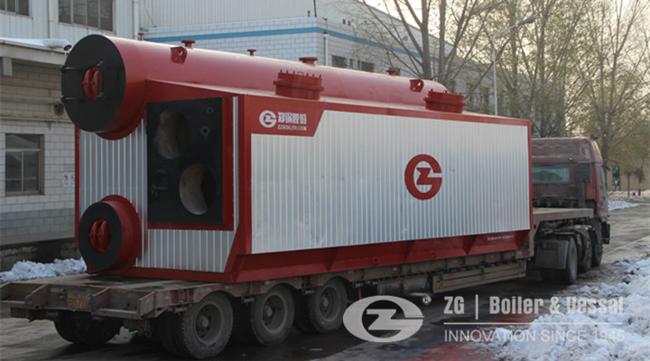 SZS Gas fired water tube boiler