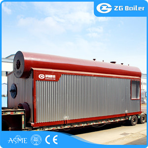 Gas oil fired water tube steam boiler