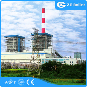 Oil gas fired power plant boiler