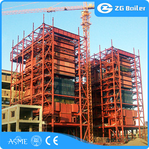 Biomass fired circulating fluidized bed steam boiler